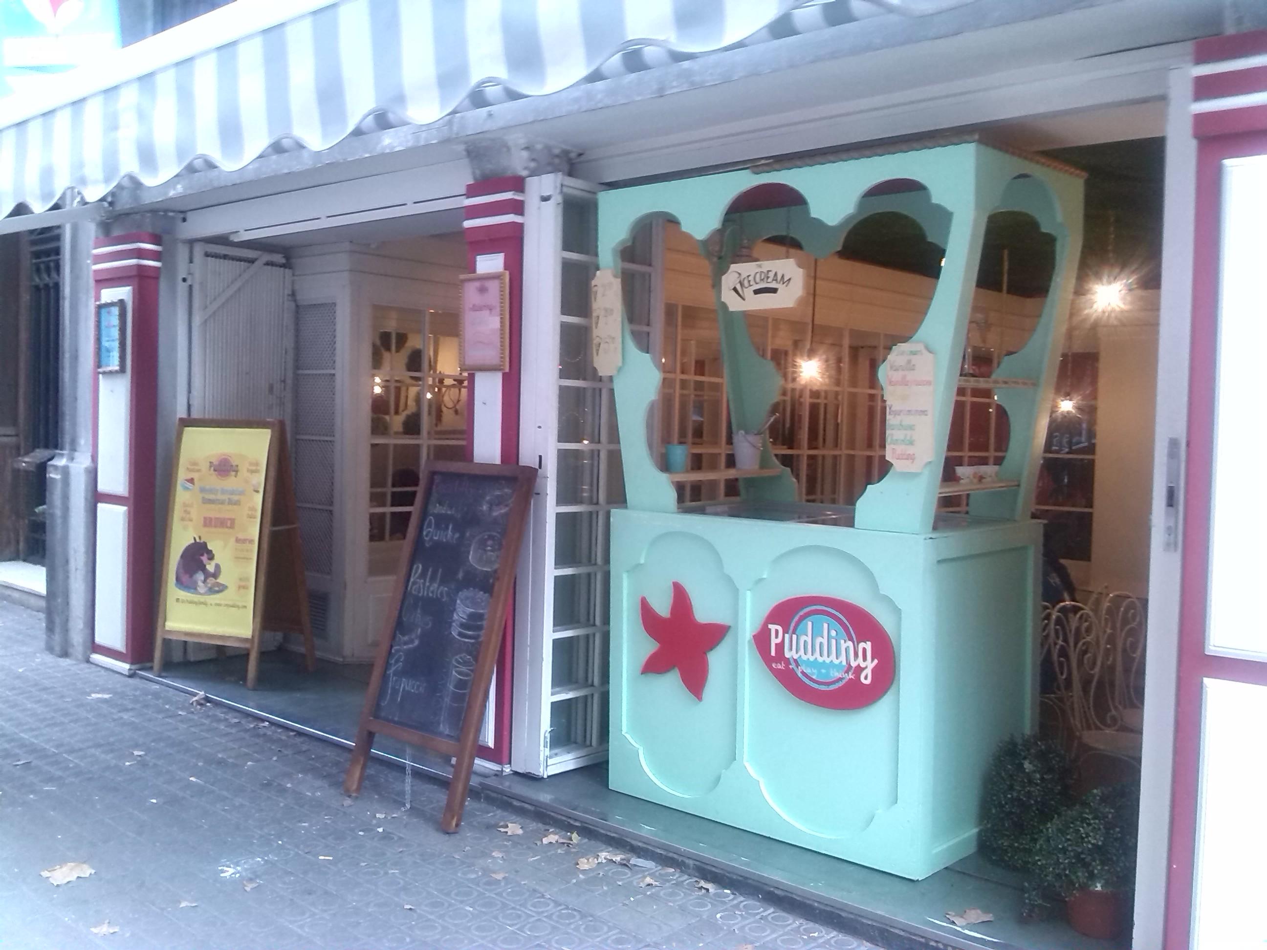 Cafetería original en el centro de Barcelona: Pudding