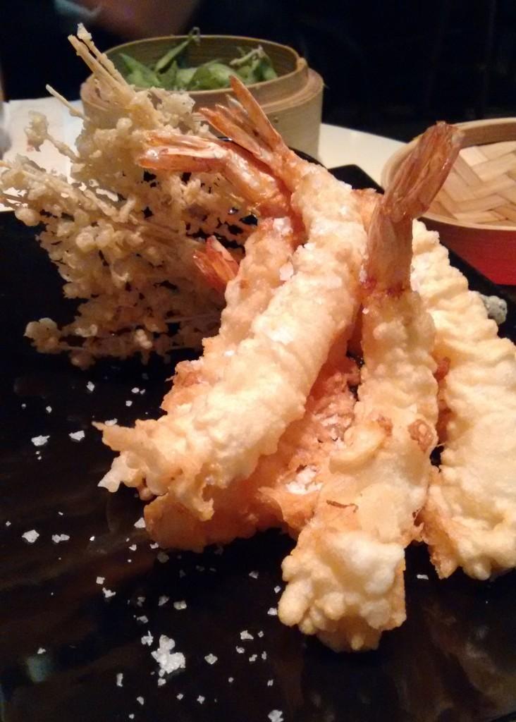 Ikibana: Langostinos en tempura